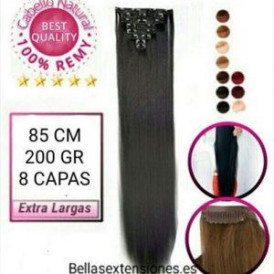 Extensiones Clip Liso Extra Largas 85cm - 200g