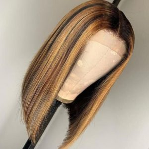 peluca natural con mechas lace front indetectable