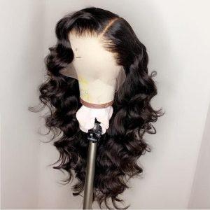peluca ondulada lace front
