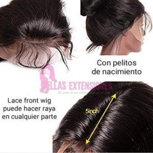 peluca ondulada lace front de pelo virgen natural
