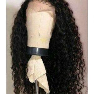 peluca rizada lace front