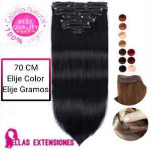 extensiones clip liso 70cm