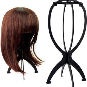 soporte para pelucas plegable