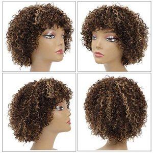 peluca afro mechada monofilamento naturAL